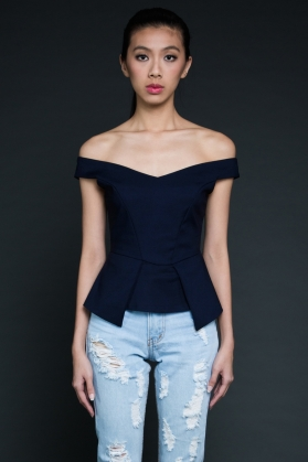 Tara Peplum Top - The Underrated