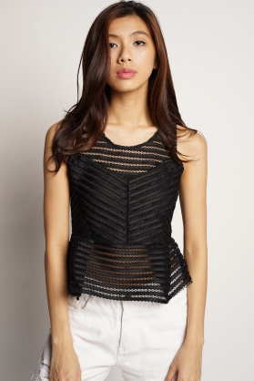 Tiffany Peplum Top - The Yang